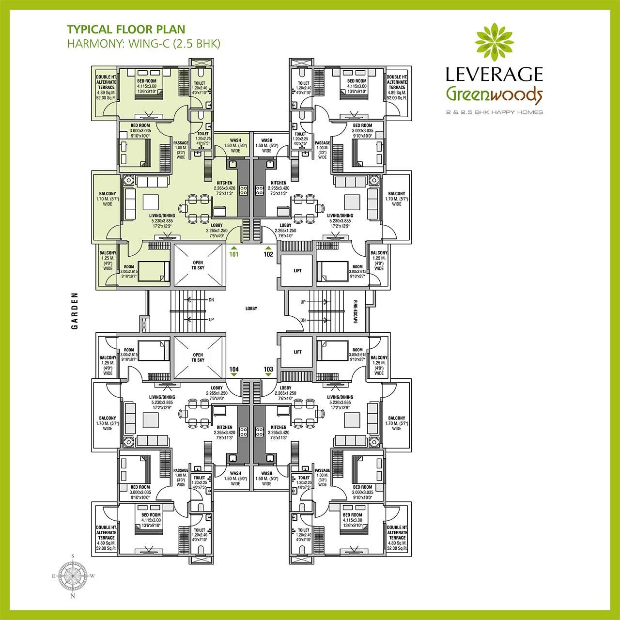 leverage-greenwood-harmony-25bhk-floor-plan