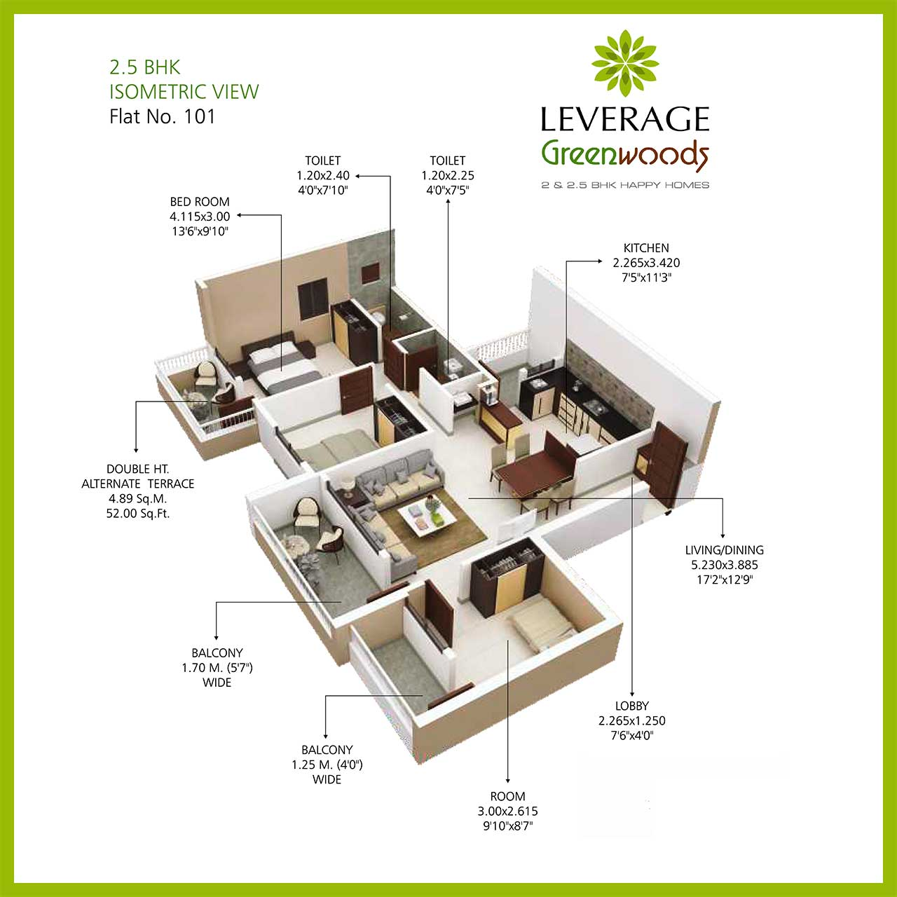 leverage-greenwood-harmony-25bhk-isometric