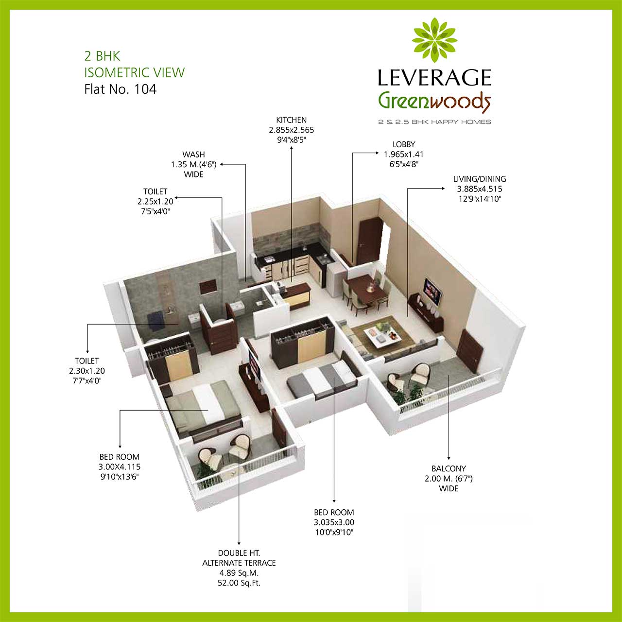 leverage-greenwood-harmony-2bhk-isometric